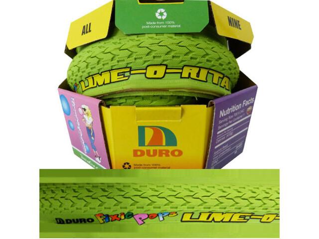Duro Fixie Pops Folding Tire 700x24C Lime-o-Rita green